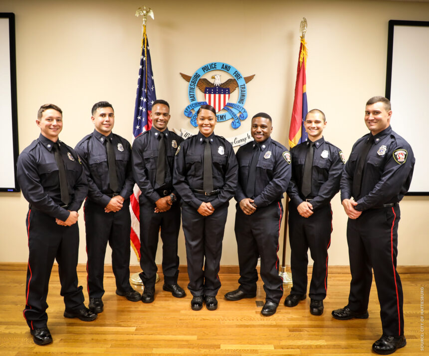 Hattiesburg Fire Academy Graduates Seven, Including First Female