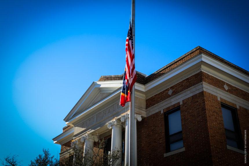 Hattiesburg Raises New State Flag