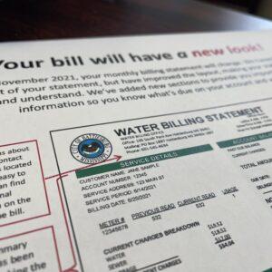 City of Hattiesburg Water Customers See New Bill Design in November